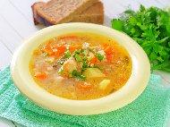 Рецепта Класическа пилешка супа с ориз и замразени зеленчуци в мултикукър (със застройка)